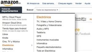 amazon tienda online menu categorias