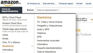 amazon tienda online menu categorias