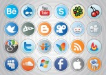 Botones sociales, navegadores web, social media y blogs