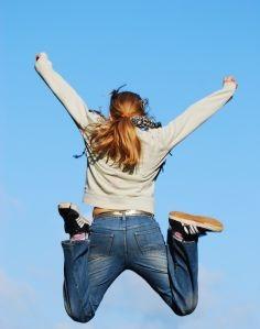 Salto de alegría al ganar el best blog award