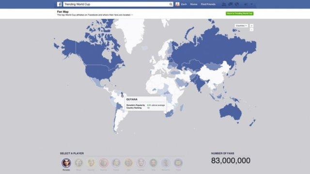 Mundial Brasil Fans Facebook Jugadores