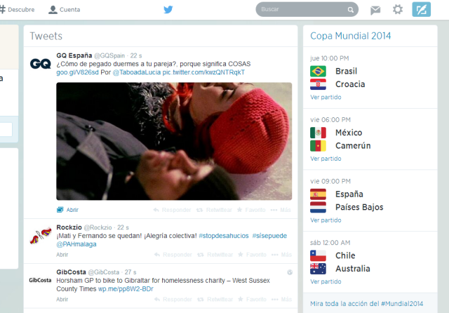 Marcadores Twitter Mundial Brasil